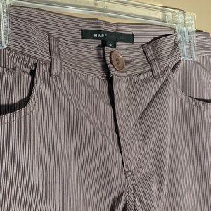 Marc Jacobs straight striped purple pants